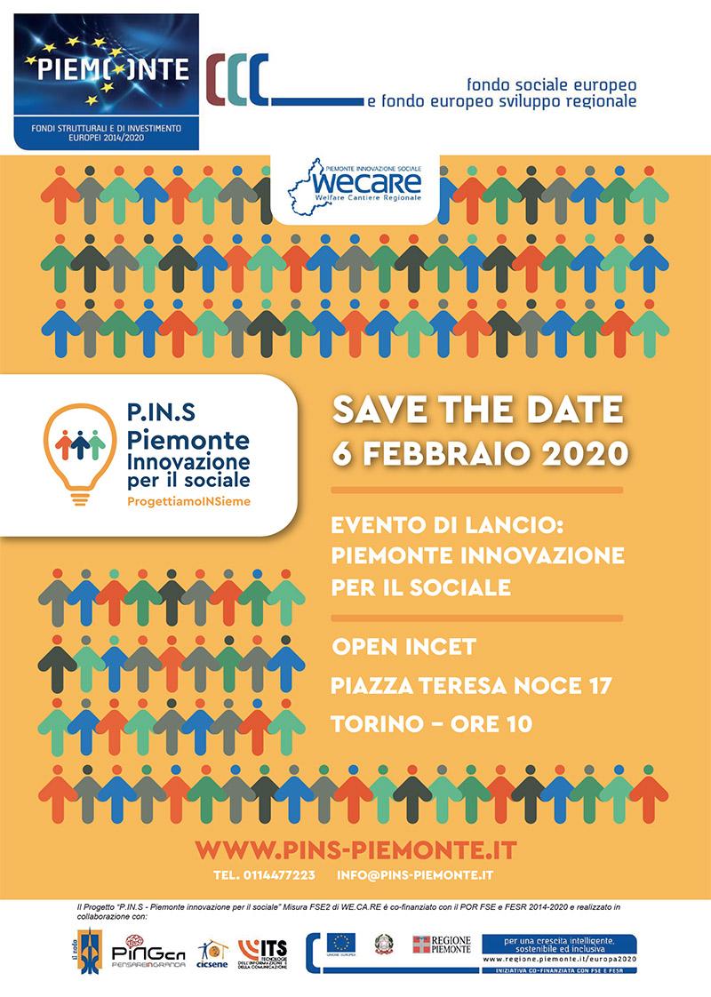 Presentazione Progetto P.IN.S. e call per innovatori sociali – 6/02/2020