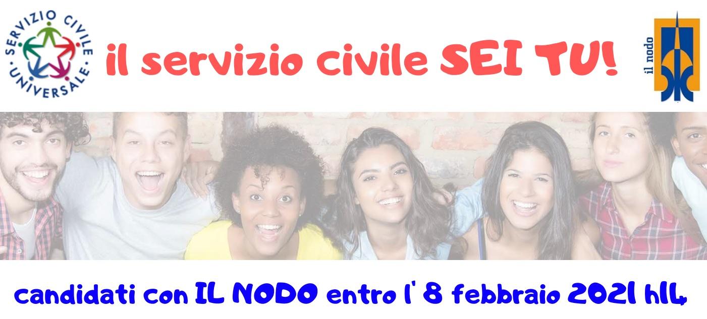 ON-LINE IL BANDO SERVIZIO CIVILE 2021!